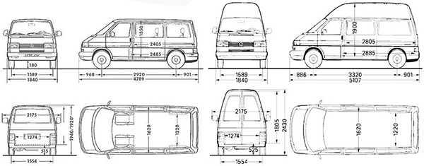 т4 транспортер вместимость